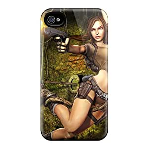 Iphone 4/4s HxX7486SwQo Allow Personal Design Vivid Tomb Raider Pattern Shockproof Hard Cell-phone Cases -IanJoeyPatricia