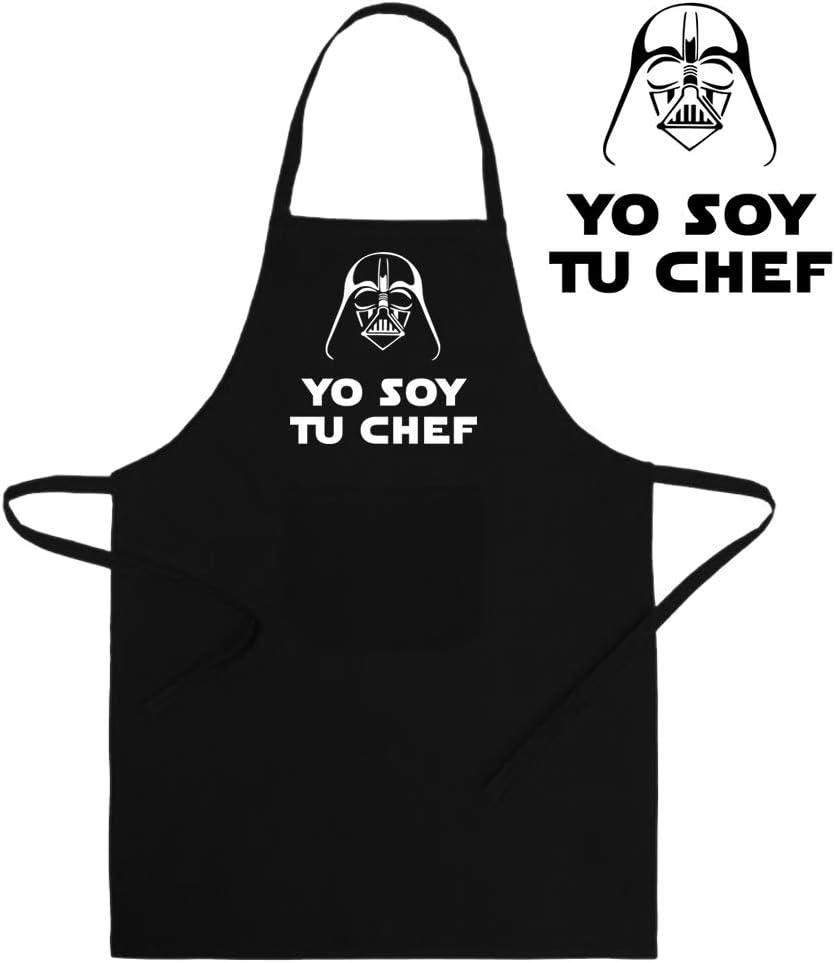 ClickInk Delantal Divertido y Original. Yo Soy tu Chef. Parodia Yo Soy tu Padre. Regalo Friki.