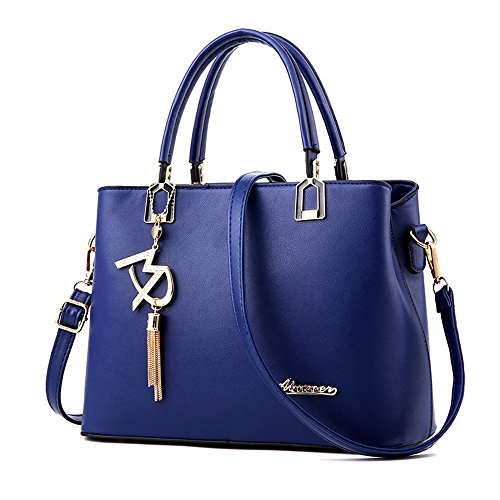 (jvps18-p) 2018 New Women Shoulder Bag Pu Waterproof Bag European And American Fashion Messenger 6 Colors Back All Popular Celebrity Bag Navy