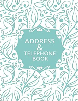 address telephone book phone address book large print font 85 x 11 for contacts addresses phone numbers emails birthday and more