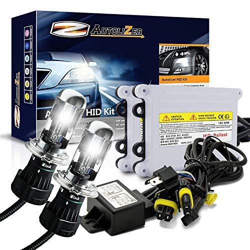Autolizer 55W Xenon HID Lights [H4 HB2 9003-6000K Pure White] Bi-Xenon with ()