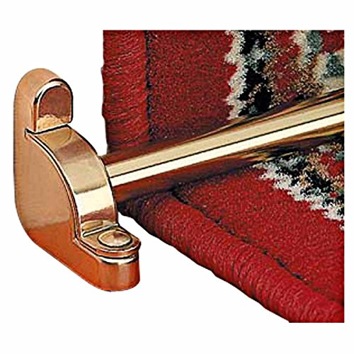 Carpet Rods Bright Brass Plain Tubing Flat End Set Of 13 | Renovator's Supply by Renovator's Supply