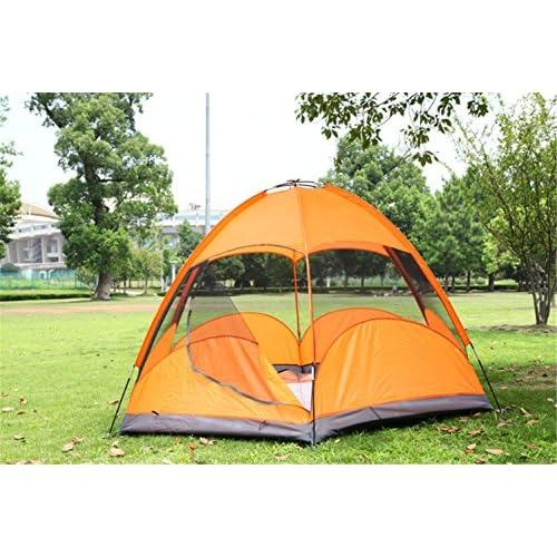 RFVBNM Surdimensionnée Double-Decker six-Corner tente 5-8 personnes camping yourtes camping en plein air Four Seasons General étanche tente 240 * 240 * 145CM