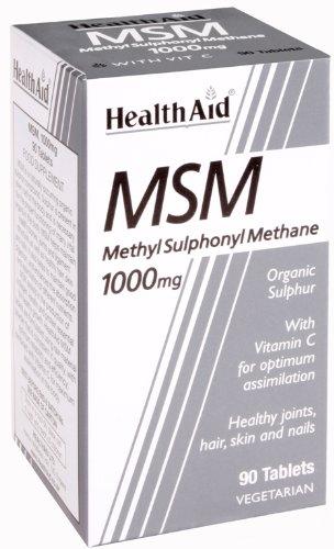 HealthAid MSM 1000mg – 90 Tablets