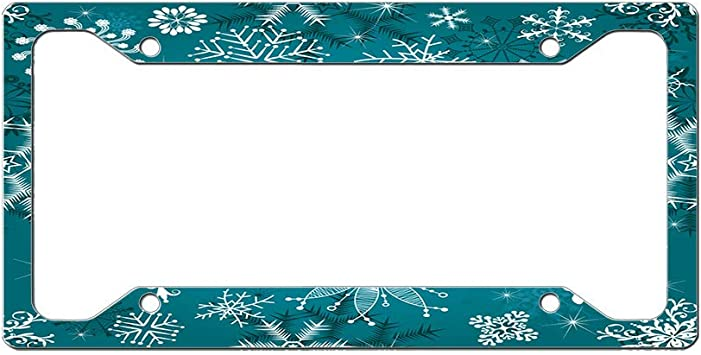Custom License Plate Frame Ladybugs Seamless Pattern Style B Aluminum Cute Car Accessories Narrow Top Design Only One Frame