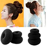 Magic Lady's Girls Sponge Hair Styling Bun Styler Maker Ring Donut Shaper Tool Size S