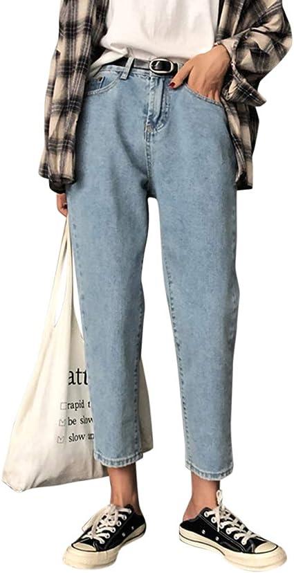 Yonglan Donna Skinny Jeans Slim Elastico Vita Alta Washed Denim Pantaloni Leggings Matita Pantalone
