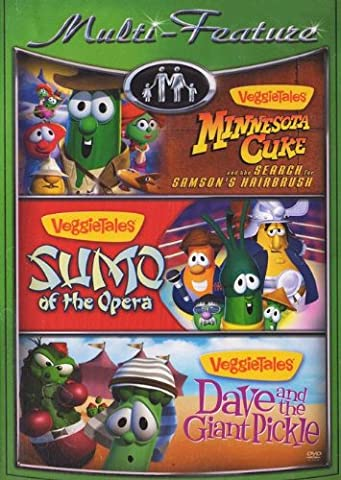 VeggieTales Multi-Feature (Minnesota Cuke and the Search for Samson's Hairbrush/Sumo of the Opera/Dave and the Giant (Veggie Tales Hairbrush)