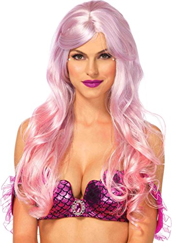 Mermaid Halloween Costumes 2016 (Leg Avenue Women's Mermaid Ombre Wig, Pink, One Size)