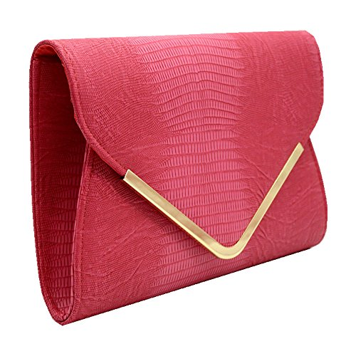 Evening Rose Crossbody Club Women Messenger Party Red Red Handbag Pattern Embossed Wiwsi Bag Rose qwY1Cax