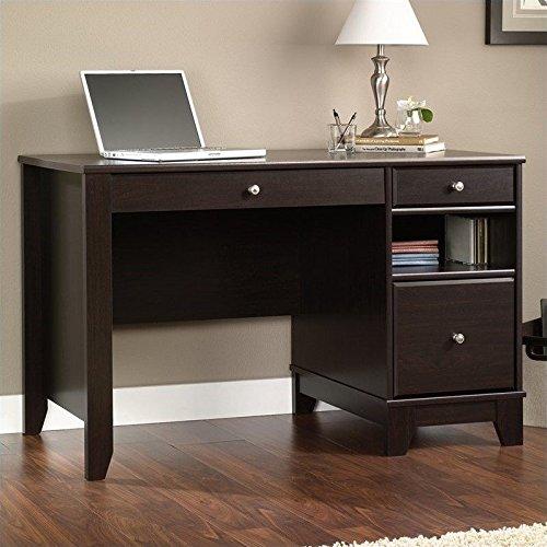 Sauder 414468 Computer Desk, Jamocha Wood Finish