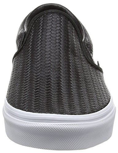 Sneakers Embossed in Vans White Top Weave Low Klassischer True Black für On Slip Erwachsene Unisex Schwarz RTR1z