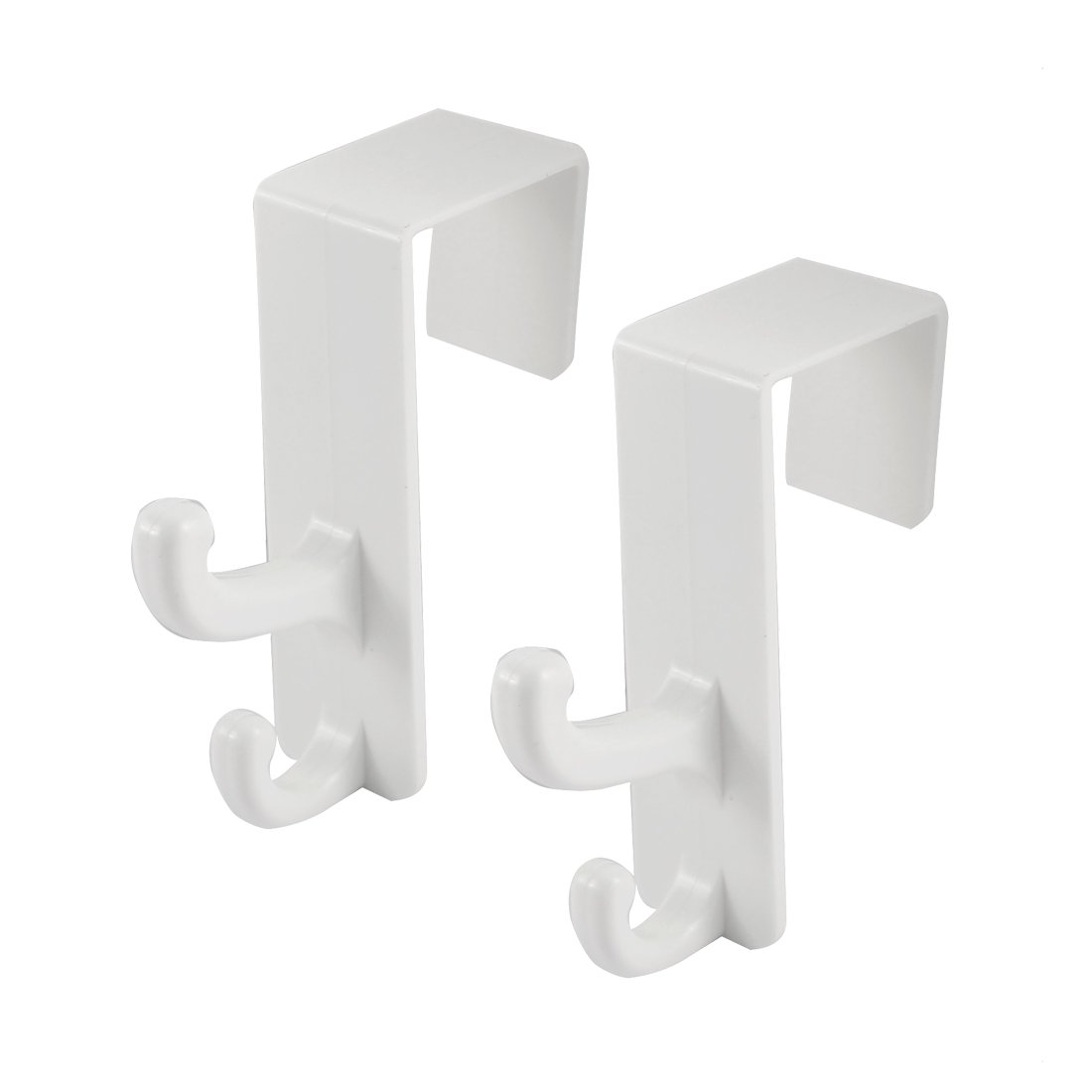 uxcell Plastic Family Bathroom Towel Bathrobe Over Door Hooks Hanger 2 PCS hot sale 2017
