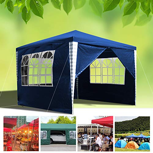 wolketon Waterproof Gazebo 3x3M with Sides Panels UV Protection Party Tent Camping Event shelter