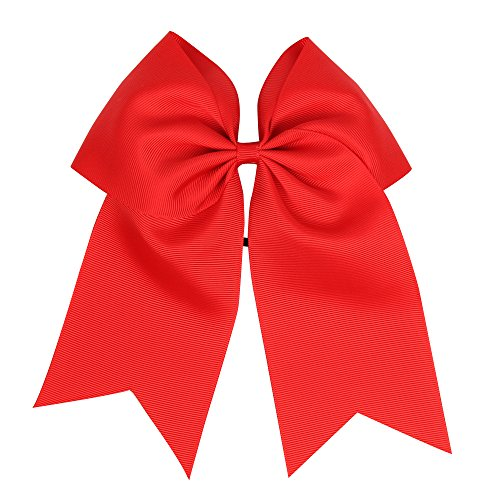 Big Bows for Girls Hair Accessories Gift 6 inches Pinwheel Kids Children Girls Hair Bows Tie Rubber Elastic Band Headband Pigtail Holder - Heads With Girls Big