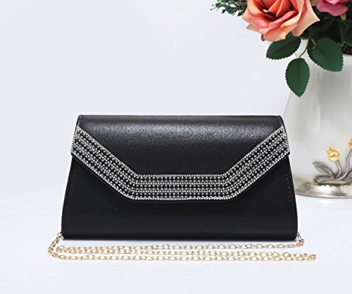 Black Clutch Prom LeahWard Bag New Diamante Party Clutch Bag Wedding For Women Evening 1704 Women's OwOSq7g