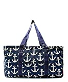 """N. Gil All Purpose Open Top 23"""" Classic Extra Large Utility Tote Bag 2016 Spring Collection"""