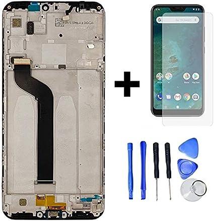 Hypak Pantalla Completa para Xiaomi Mi A2 Lite (con Marco ...