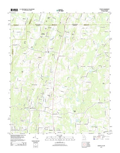 Topographic Map Poster - COHUTTA, GA-TN TNM GEOPDF 7.5X7.5 Grid 24000-SCALE TM 2010, 16