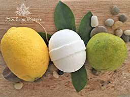 Natural & Organic Ultra/Lush Bath Bomb gift set 4.2 oz./6 count, USA made for her, him, teens. Soothe with essential oils & cocoa butter. The best Mother\'s day gift or...