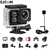 SJCAM SJ7 STAR 4K 12MP 2 Touch Screen Metal Body Gyro Action Camera BLACK + SJCAM SJ7 Mic