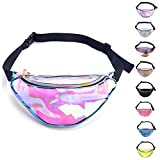 Miracu Holographic Fanny Pack, 80s Fanny Packs for Women...
