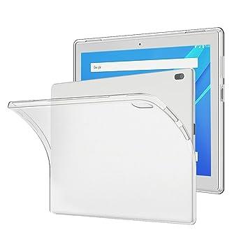 Funda Lenovo tab 4 10, Gosento Funda Carcasa Bumper Case Lenovo tab4 10 Silicona Gel TPU Slim Silicona Carcasa para Lenovo tab 4 10 (Transparente ...