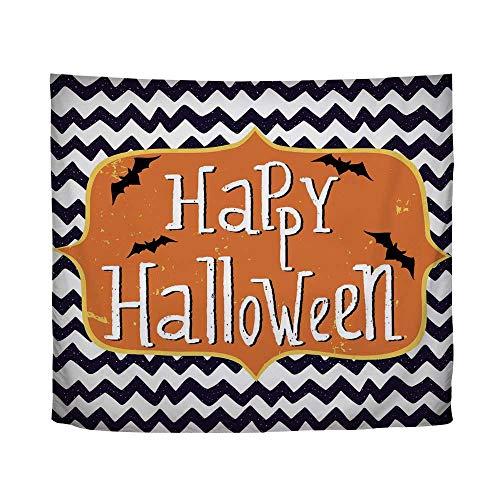 YOLIYANA Halloween,Cute Halloween Greeting Card Inspired Design Celebration Doodle Chevron Decorative,61