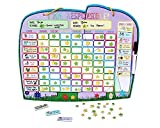 Chore Reward Chart for Multiple Children with Magnetic Backing, 3 x Dry Erase Marker and Storage Bag - Ele-fun Responsibility Star Chart, 14.4 x 34cm