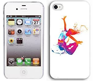 Apple iPhone 5 5s White 5W256 Hard Back Case Cover Colorful Dancing Girl Design