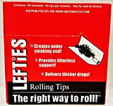Full Box of 50 Packs Lefties Rolling Paper Filter Tips 40 Per Pack Free Shipping
