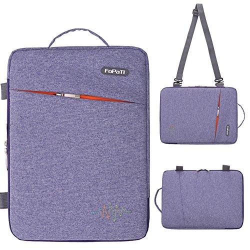 FOPATI 11 - 11.6 Inch Laptop Sleeve Vertical Slipcase Shoulder Bag Messenger Case for Apple Macbook Air 11 12/ Surface Pro 2017 Surface Pro 4 3/ HP ASUS Dell Acer Samsung 11.6
