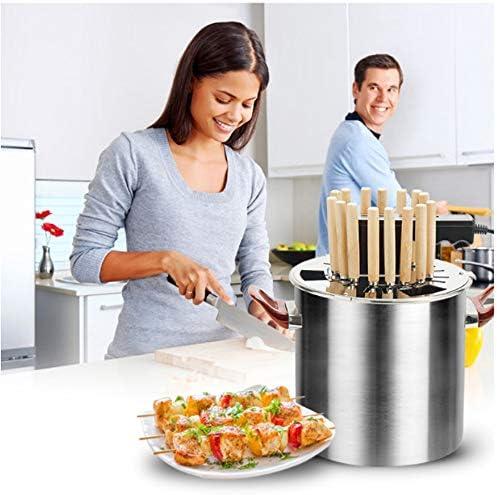 QMKJ Haushalt Smokeless Oven Edelstahl Elektro-Ofen vollendete Barbecue-Maschine kann als Suppe Pot Camping Outdoor Garten Grill Grill Utensil verwendet Werden