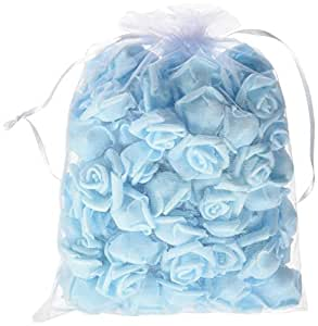Pparty 1-Inch Fake Flower Heads, 80-Pieces, Blue