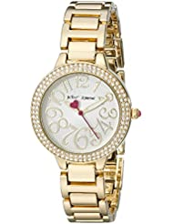 Betsey Johnson Womens BJ00235-01 Analog Display Quartz Gold Watch