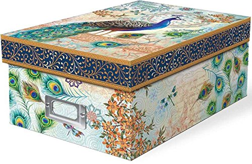 punch-studio-blue-royal-peacock-photo-storage-box