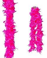 "Dozen Hot Pink 72"" Feather Boas 20's Show Girl Cabaret Dancer Costume Accessory"
