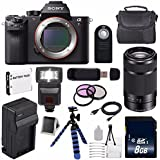 Sony Alpha a7R II Mirrorless Digital Camera (International Model no Warranty) + Sony E 55-210mm f/4.5-6.3 OSS E-Mount Lens (Black) + 49mm 3 Piece Filter Kit 6AVE Bundle 115