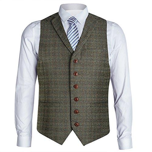 Brown Suit Coat (Zicac Men's Unique Advanced Custom Vest Skinny Wedding Dress Waistcoat (M, Brown#2))