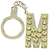 kate spade new york Kate Spade Key Fobs Jeweled M Initial, Yellow