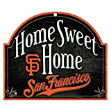 """MLB San Francisco Giants 10-by-11 Wood """"Home Sweet Home"""" Sign"""