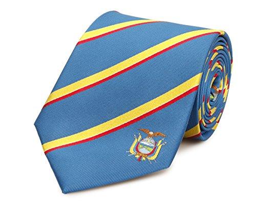 Ecuador Tie - Inspired by the Ecuadorian Flag. 100% Woven Silk. Ecuador Necktie. Ecuadorian Tie