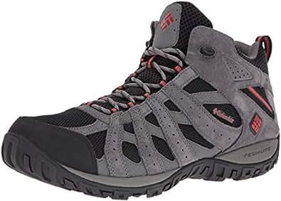 Columbia Men's Redmond Mid Waterproof Hiking Boot, Black, Gypsy, 7 D US