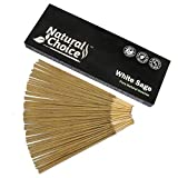 Natural Choice Incense White Sage Incense Sticks 100 Grams, Low Smoke Traditional Incense Sticks Made from Scratch,...