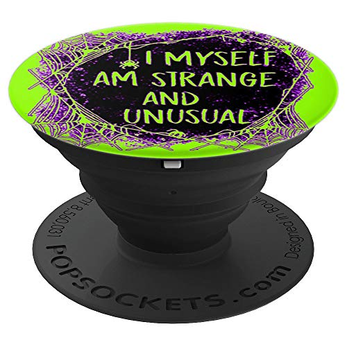 Strange and Unusual Spooky Halloween 80s 90s Fans Green - PopSockets Grip and Stand for Phones and Tablets -