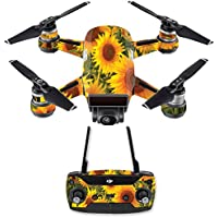 Skin for DJI Spark Mini Drone Combo - Sun Flowers| MightySkins Protective, Durable, and Unique Vinyl Decal wrap cover | Easy To Apply, Remove, and Change Styles | Made in the USA