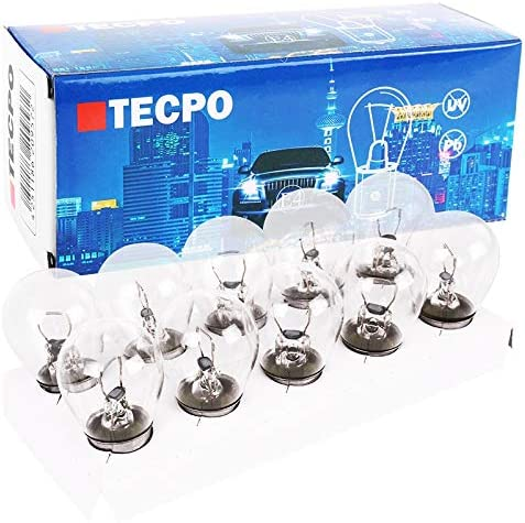 Tecpo 10x P21w 12v 21w Kugellampe Ba15s Bremslicht Birne Tagfahrlicht Auto