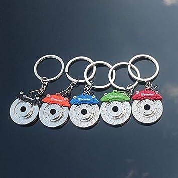 #Rosso Cosanter Pompa Freno a Disco per Auto Portachiavi Ciondolo personalit/à Ornamento Chiave Keychain Bel Regalo