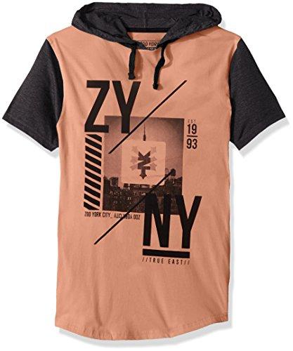 Zoo York Men's Short Sleeve Hoodie, Framed chai, Medium