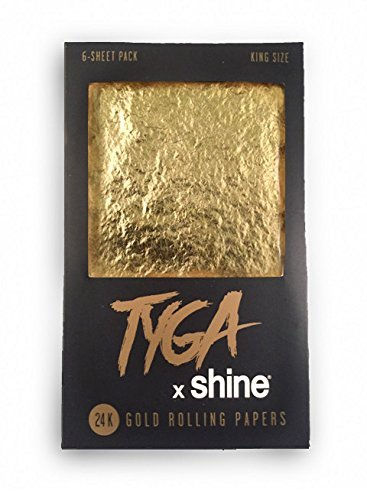 Shine Tyga 24K Gold King Size Rolling Papers 6 Sheet Pack